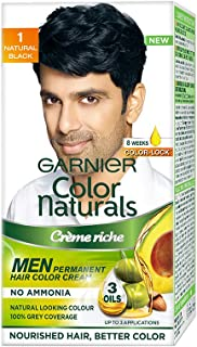 Garnier Color Naturals - Men Permanent Hair Colour Cream - Natural Black 1