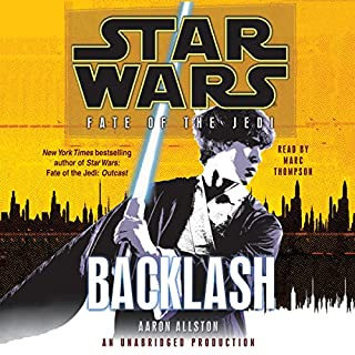 Star Wars: Fate of the Jedi: Backlash audiobook cover art