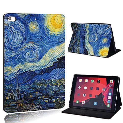 New Leather Smart Flip Case Stand Cover For Ap Ipad 2 3 4 / Mini 1 2 3 4 5 / Ipad 2017 2018 2019 / Air 3 / Pro 11 Tablet Case (Color : Dark sky, Size : IPad 2017 2018)