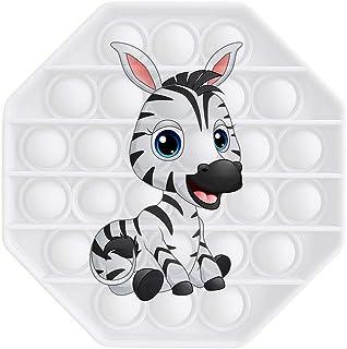 Meiweileya Cute Animal America Flag Push Pops Bubble Fidget Sensory Toys Funny Relief Stress Desktop Game Soft Squeeze Toy...