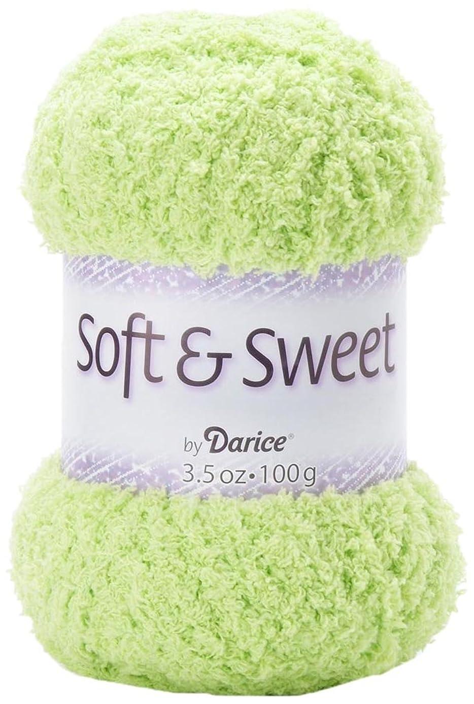 Darice 130-Yard Weaving Yarn, 3.5-Ounce, Soft and Sweet Lime Green