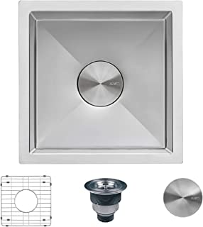 Ruvati 13 x 15 inch Undermount Bar Prep Tight Raduis 16 Gauge Kitchen Sink Stainless Steel Single Bowl - RVH7013