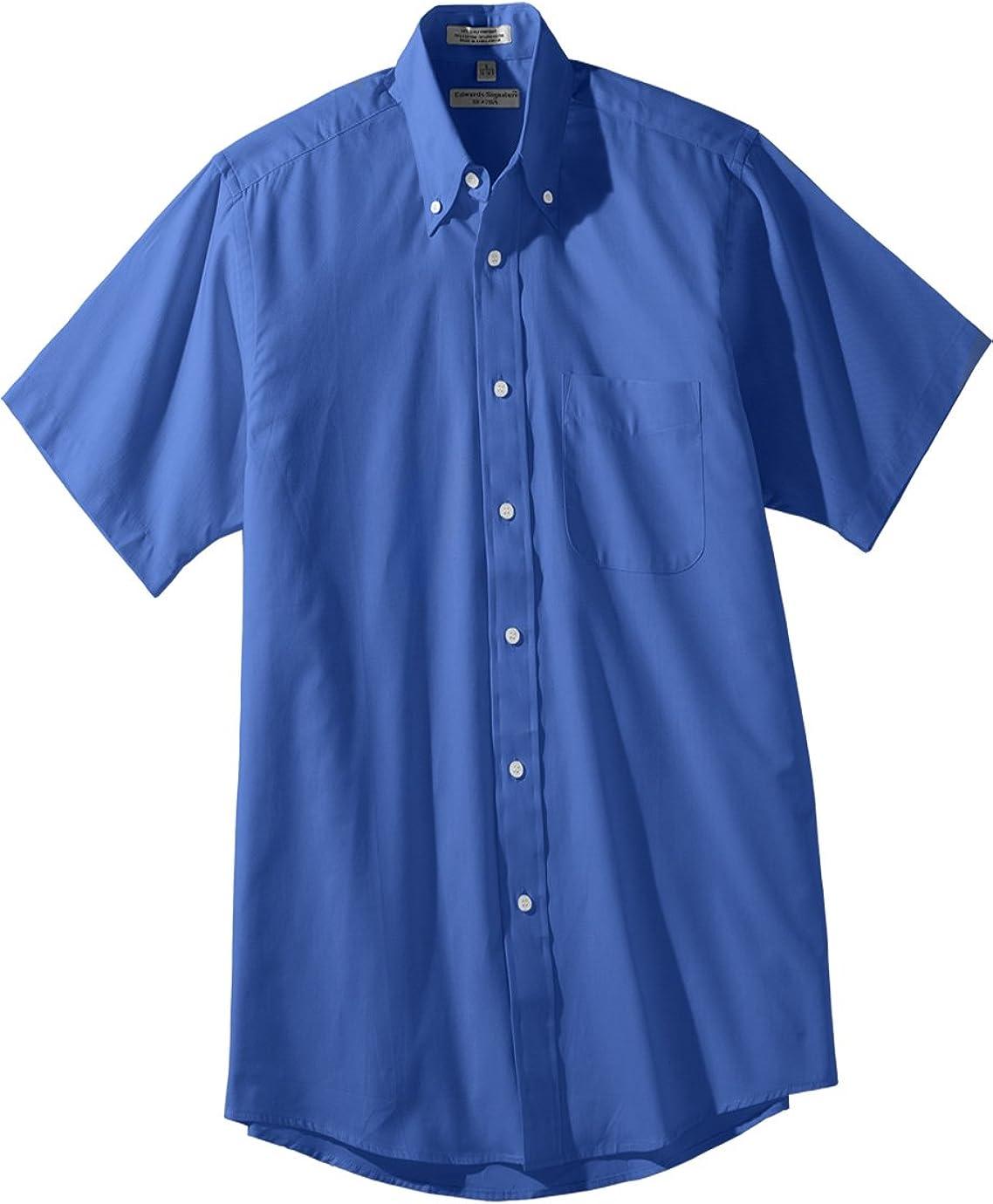 Ed Garments Men's Cotton/Poly Button Down Collar Machine Washable Dress Shirt