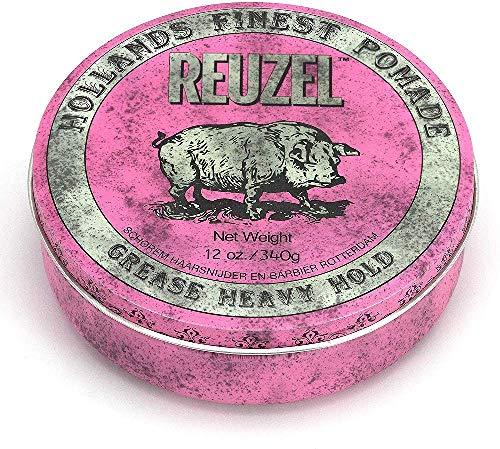 REUZEL Pink Pomade Grease, Heavy Hold, 12 oz.