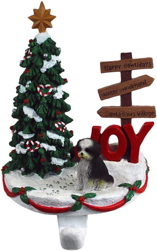 DogLoverStore Shih Tzu Same day shipping NEW Stocking Holder White Black Puppy Hanger