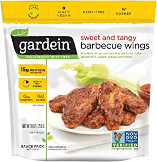 Gardein Mild And Tangy Barbecue Chicken Wing, 9 Ounce -- 8 per case.