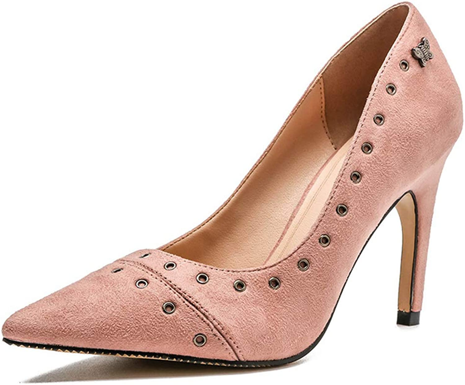 Sam Carle Womens Pink Pumps,Sexy Fashion Casual Pointed Toe High Heel Spring Office Dress Pumps