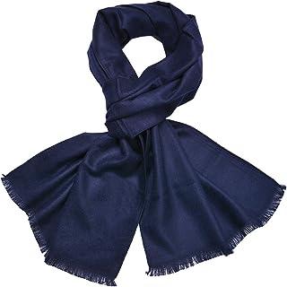 XXL Sciarpa Stola a quadretti come Feel cachemire inverno con nappe tenendo.Piega