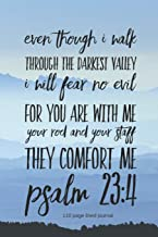 Even Though I Walk Through the Darkest Valley I Will Fear No Evil For You Are With Me Your Rod and Staff They Comfort Me P...