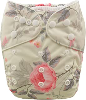 ALVABABY Baby Cloth Diapers One Size Adjustable Washable Reusable for Baby Girls and Boys with 2 Inserts