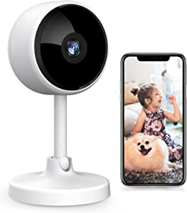 Indoor Security Camera, Crzwok 1080P HD WiFi Home Wireless Camera with 2-Way Audio, Night Vision, Motion Detection for Pet/Elder/Baby/Nanny Monitor, Cloud Service and Micro SD Support