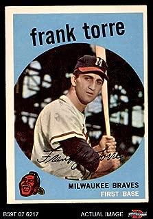 1959 Topps # 65 Frank Torre Milwaukee Braves (Baseball Card) Dean's Cards 3 - VG Braves
