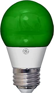 GE Lighting 92126 3-Watt LED Party Light Bulb with Medium Base, Green, 1-Pack