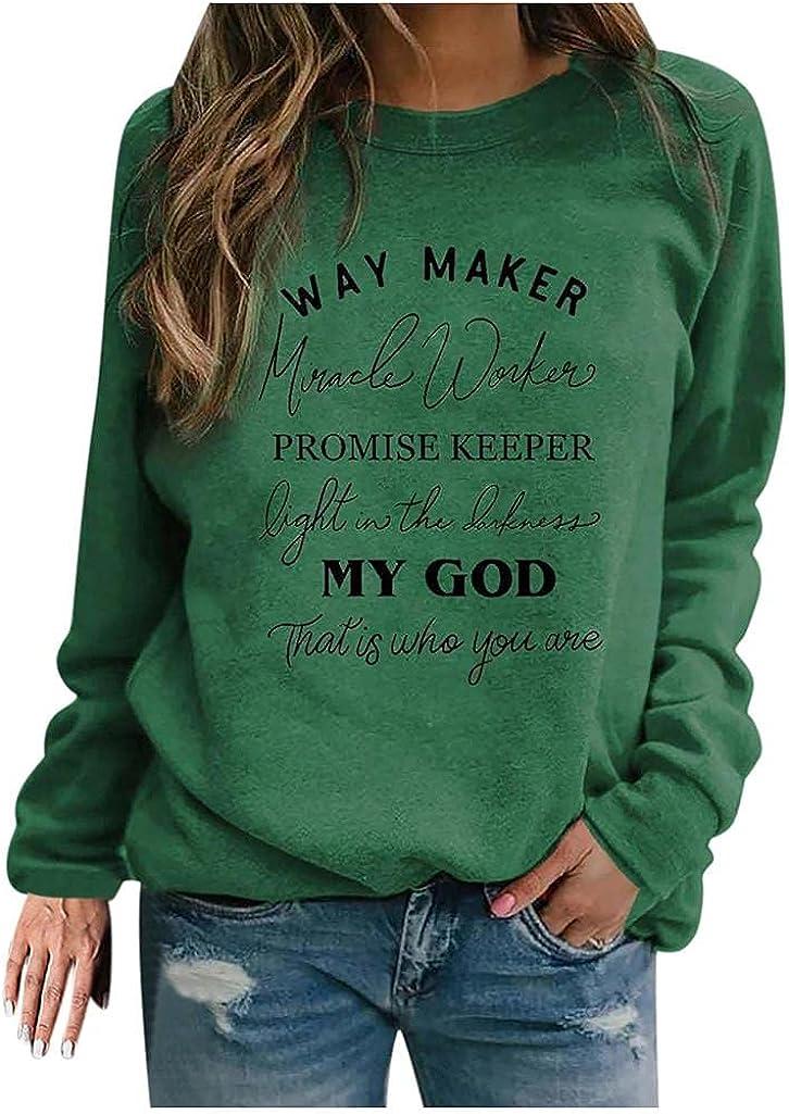 POLLYANNA KEONG Long Sleeve Blouses for Women,Womens Vintage Graphic Sweatshirt Long Sleeve Tunic Shirts Tops