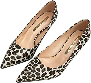 [DOUERY LTD] パンプス ヒョウ柄 女性 ハイヒール 走れる 痛くない 小さいサイズ ポインテッドトゥ ピンヒール ヒール 8cm 22.5cm 歩きやすい 耐摩耗性 結婚式
