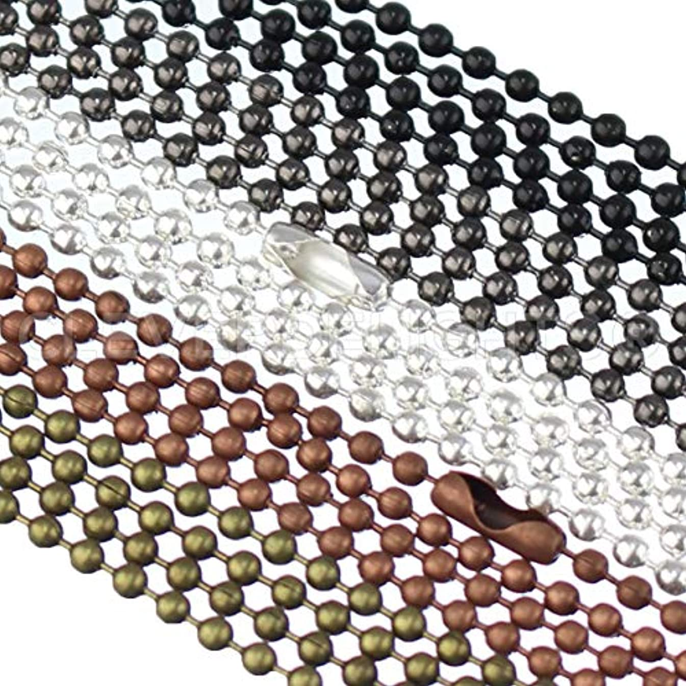 CleverDelights 50 Pack Ball Chain Necklaces - 24
