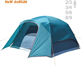 NTK Philly GT Outdoor Dome Family Camping Tent 100% Waterproof 2500mm, Easy Assembly, Durable Fabric Rainfly, Micro Mosquito Mesh (Available in 3,4,6 and 9 Persons)