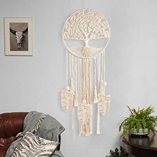 party club Macrame Dream Catcher with Ring Boho Large Handmade Tree of Life Wall Hanging Wedding Party Dreamcatcher Home Baby Nursery Decorations Birthday Gifts (37.8