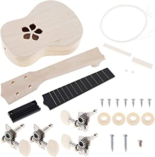 YiPaiSi 21 Inch Ukulele DIY Kit, Hawaii Ukulele Kit, Make Your Own Ukulele, Basswood 4 String Ukulele Set, Hawaii Ukulele ...