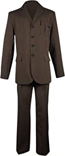 Cosplaybar Dr Brown Pinstripe Suit Blazer Pants Halloween Cosplay Costume