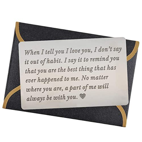 Engraved Wallet Cards For Men Inserts Unique Birthday Gifts Anniversary