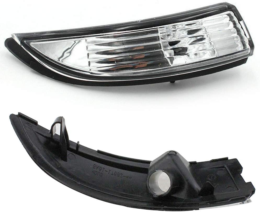 Luz indicadora de giro Derecha Izquierda Indicador autom/ático Indicador de ahorro de energ/ía Led retrovisor L/ámpara Impermeable Funcionamiento diurno ABS Intermitente para Ford Fiesta Izquierda