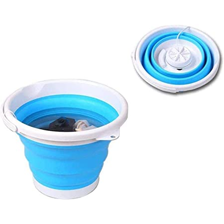 Portable Washing Machine - Foldable Ultrasonic Turbine Washer with USB Cable - Mini Washing Machine for Camping Dorms Business Trip College Rooms