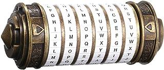 Lixada Retro Birthday Valentine Gift Box Cylinder Lockbox Da Vinci Code Alphabet Locks