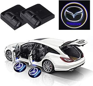 99 Carpro カーテシーランプ Mazdaマツダ LED ドアライト歓迎ライトLED投影レーザーロゴライト 配線不要 (2個セット)