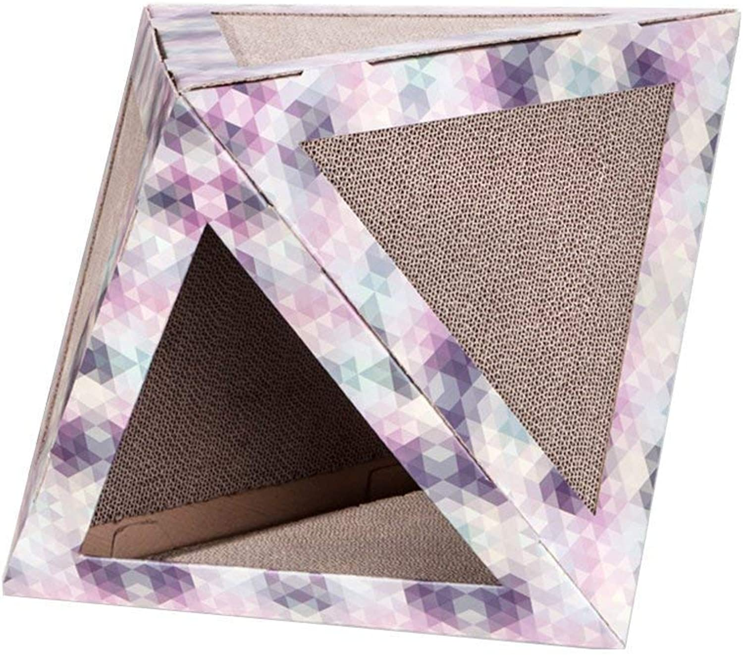 AYLS Cat Scratch Board Cat House Corrugated Paper House Recyclable Cardboard Predect Your Furniture Scratch Pad Pad Cat Indoor Apartment Activity Center