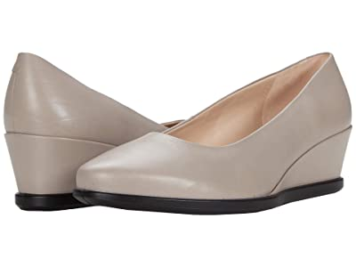 ECCO Shape 45 Wedge Pump (Grey Rose Cow Leather) Women