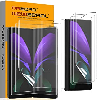 NEWZEROL 3 uppsättningar kompatibla för Samsung Galaxy Z Fold 2 5G skärmskydd [Fingeravtryckigenkänning] [Full täckning] T...