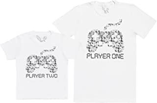 63d16f9327a83 Baby Bunny Player One   Player Two - Ensemble Père Enfants Cadeau - Hommes T -