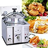 Chicken Express Pressure Fryer,ixaer Commercial Electric Countertop Pressure Fryer 16L Stainless Chicken Fish