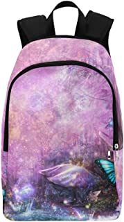 Enchanted Fairy Forest by Sangrde Customization Wa Casual Daypack Travel Bag College School Backpack for Mens and Women