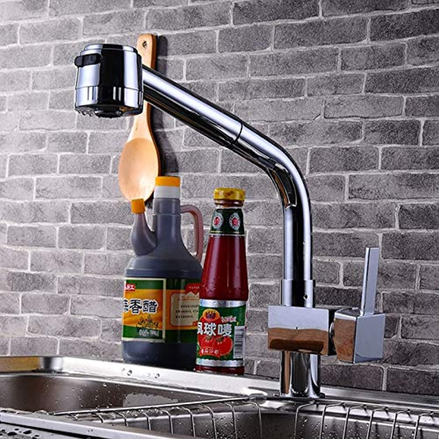Decorry Boutique Sanitary Ware Deck Mounted Kitchen Faucet with Top Quality Solid Brass Kitchen Faucet and Hot Cold Tap