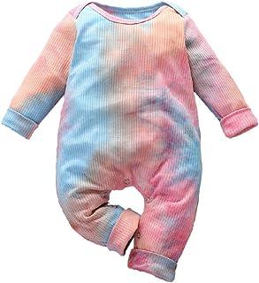 JoJody Body Mixte b/éb/é Filles Gar/çons Combinaisons en Coton Grenouill/ères Bodys /à Manche Courte Imprim/é Renard Ray/é Pyjama v/êtements 3-18 Mois