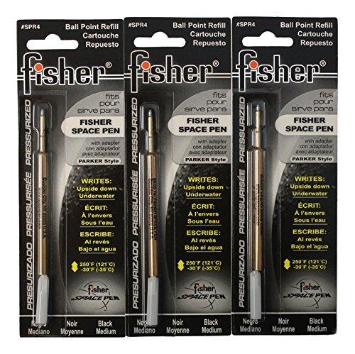 Fisher SPR4 Ersatzminen für Bullet Fisher Space Pen, Schwarz, 3 Stück