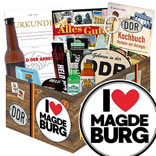 I love Magdeburg / Geschenkbox DDR Männer / Magdeburg Geschenk Paar