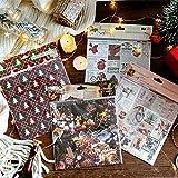 FairOnly Weihnachtsaufkleber, Weihnachtsbaum, Hirsch, Geschenk, Obst, selbstklebend, für...