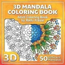 3D Mandala Coloring Book: Adult Coloring Book (3D Mandalas)