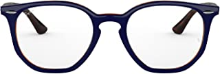 RX7151 Hexagonal Eyeglass Frames, Top Blue On Havana...