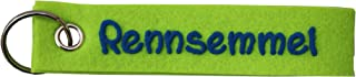 Generisch Llavero de fieltro con nombre o frase en alemán (verde manzana)
