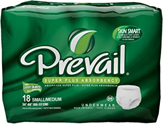 Prevail Maximum Absorbency Incontinence Underwear, Small/Medium, 18-Count