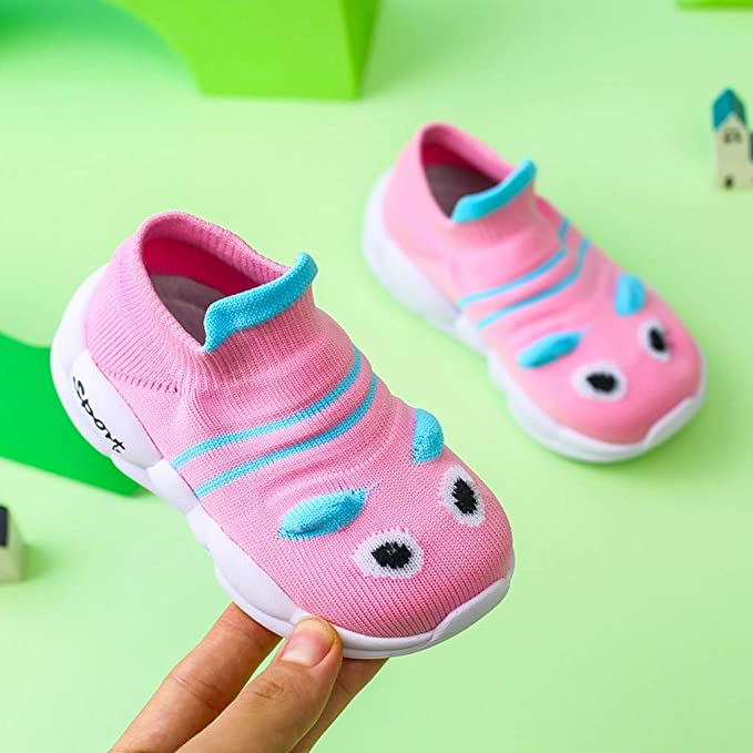 Toddler Infant Little Kid Baby Girls Boys Cartoon Cute Knitted Breathable Shoes
