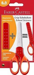 Faber-Castell 5169181550 Grip Okul Makası, Kırmızı