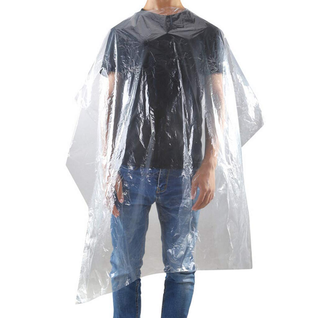 10Pcs Hairdressing Cape,Waterproof,Hairdressing Apron Disposable,  Transparent Salon Hair Cutting Gown Barber Cape Cloth, Adult Barbers  Hairdresser