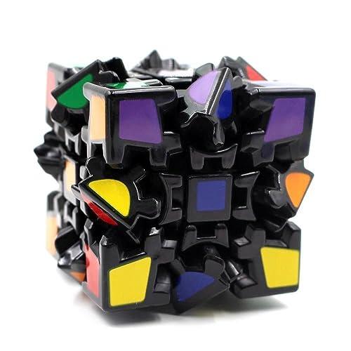 Fancyku Great Brain Teasing Gear 3x3x3 Magic Cube 3D Twisty Puzzle for Kids and Adults