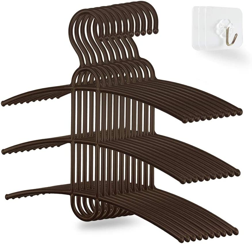 upra Complete Free Shipping Shirt Hangers Space Saving Max 83% OFF Plastic Multi-F Durable 10-Pack