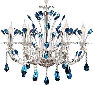 K9 Crystal Chandelier Modern Luxurious Blue Diamond Peacock Pendant Lamp Lighting Pendant Lamp Ceiling Lighting Flush Mount Fixture for Dining Living Bedroom